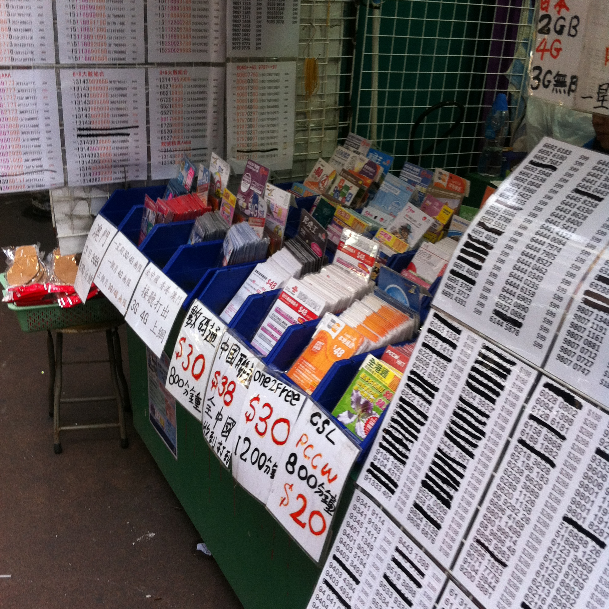 【買い物】香港市内の深水埗でSIMカードを買う